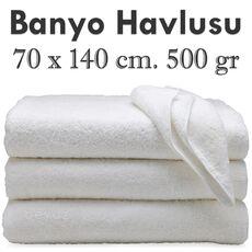 Cheap White Bath Towel 70x140cm. 500 Gram Wholesale Prices