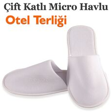 Cheap Disposable Double Layer Micro Towel Slippers Wholesale Prices