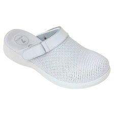 Cheap Slippers Perforated Men Sabo Slippers with White Weft Wholesale Prices