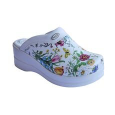 Cheap Women's High Heeled Floral Sabo Slippers 04, Color: Desenli, Size: 35 Wholesale Prices
